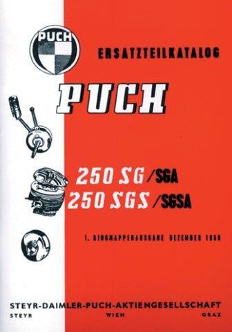 Puch 250 SG, SGS, SGA, SGSA, Ersatzteilkatalog