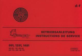 Steyr LKW Typen 991, 1291 und 1491 Betriebsanleitung