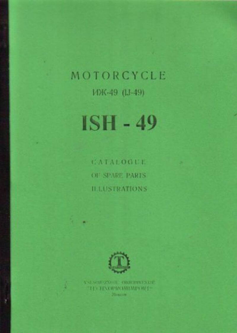 ISH Modell IJ-49 Cataloogue of Spare Parts