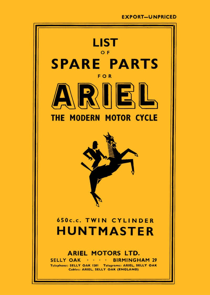 Ariel Motor Cycle Huntmaster 650 ccm Spare Parts