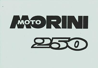 Moto Morini 250, Istruzioni