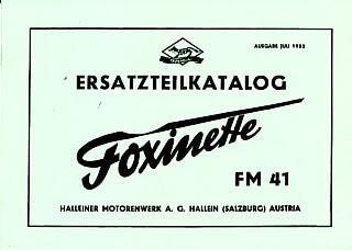 Foxinette FM 41, Ersatzteilkatalog