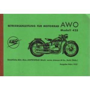 AWO 425, 250 ccm, Betriebsanleitung