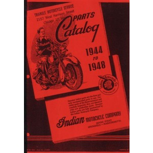 Indian Motocycle Parts Catalog 1944 to 1948