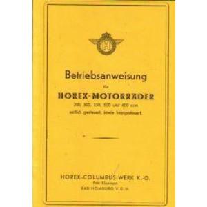 Horex Modelle 1936/1937: 200/ 300/ 350/ 500 und 600 ccm
