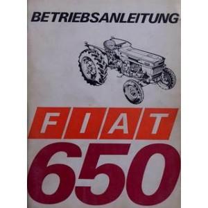 Fiat Traktor 650 Betriebsanleitung