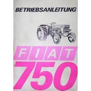 Fiat Traktor 750 Betriebsanleitung