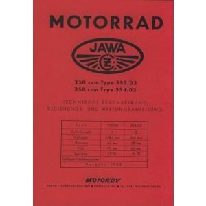 Jawa 250 und 350, ccm Typ 353/03 und 354/03, Betriebsanleitung