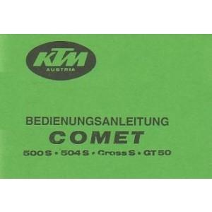 KTM Motorfahrzeugbau 500 S, 504 S, Cross S, GT 50 Betriebsanleitung