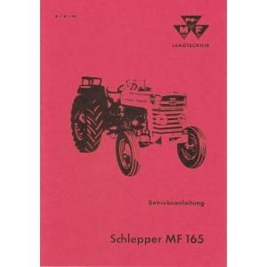 Massey-Ferguson MF 165, Betriebsanleitung