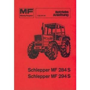 Massey-Ferguson MF 284 S / MF 294 S, (MF 284 AS / MF 294 AS Allrad) Betriebsanleitung