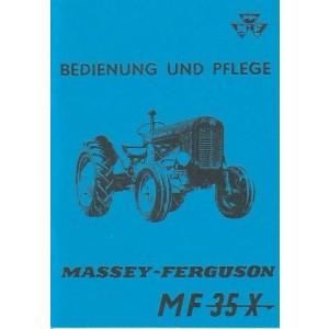 Massey-Ferguson MF 35 X Betriebsanleitung