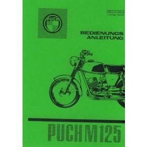 Puch Motorrad M 125, Betriebsanleitung