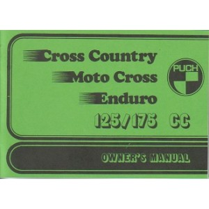 Puch Motorcycle Cross country, Motocross, Enduro, (5-speed), Owners Manual
