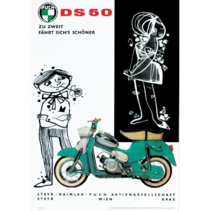 Puch DS 50 Poster