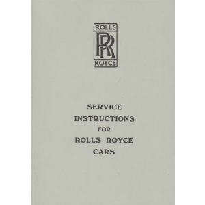 Rolls-RoyceService Instructions 1925-1939