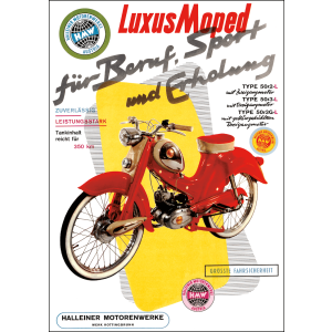 HMW Luxus Moped Poster