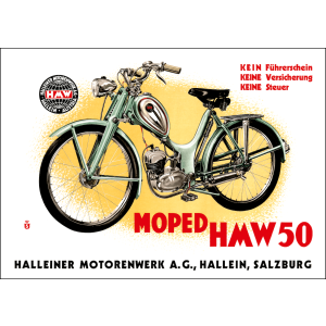 HMW 50 Moped Poster