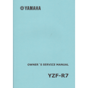 Yamaha YZF-R7 Owners Service Manual