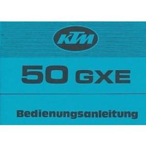 KTM Motorfahrzeugbau 50 GXE, Enduro, 4- bzw. 5-Gang, wassergekühlt, Betriebsanleitung