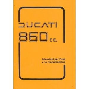 Ducati Motociclo 860 cc,  Betriebsanleitung