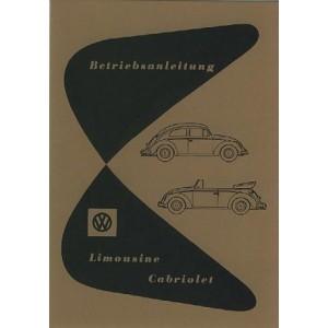 VW Käfer 1200 (30 PS) Limousine und Cabriolet, Betriebsanleitung