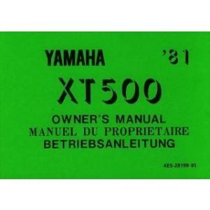 Yamaha XT 500, Betriebsanleitung