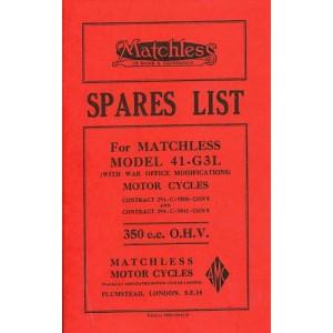 Matchless 41-G 3 L, Ersatzteilkatalog ( mit Anhang für Militärmaschinen 1944)