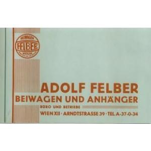 Felber Beiwagen I, Prospekt-Reprint, Vorkriegsmodelle