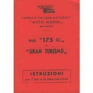Moto Morini 175cc und Gran Turismo, Istruzioni