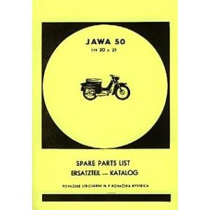 Jawa Typ 20/21, (50 ccm), Ersatzteilkatalog