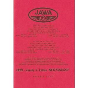 Jawa Motocross-Motorrad 250/350 ccm, Typen 579/01, 02 und 575/01, 02, Betriebsanleitung und Ersatzteilkatalog