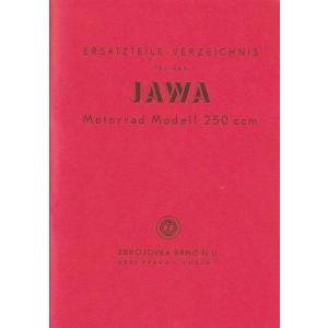 Jawa 250 ccm, 1 Zylinder, Ersatzteilkatalog
