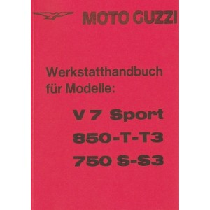 Moto Guzzi V7 Sport, 850-T/T3, 750S/S3 Reparaturanleitung