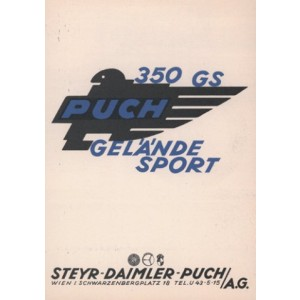 Puch 350 GS Gelände Sport - Prospekt-Reprint
