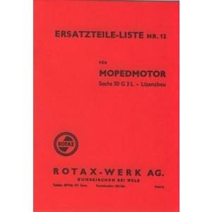 Rotax (Lizenz Sachs) 50 G3L Motor, Ersatzteilkatalog
