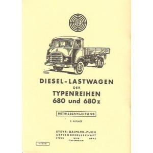 Steyr Diesel-Lastwagen, Typen 680 und 680z, Betriebsanleitung