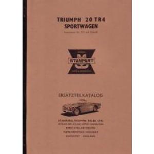 Triumph TR 4, Ersatzteilkatalog