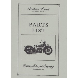 Indian Scout Motorcycle Serie 101, Parts List