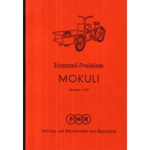 Messerschmitt Mokuli Ersatzteil-Preisliste