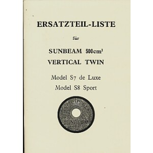 Sunbeam 500 ccm S7 und S8 - Modelle, Ersatzteilkatalog