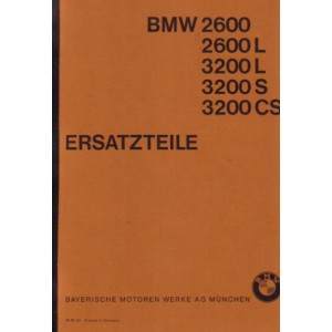 BMW 2600, 2600 L, 3200 L, 3200 S, 3200 CS V8, Ersatzteilkatalog