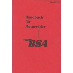 BSA -  alle Modelle 1955 und 1956, Betriebsanleitung