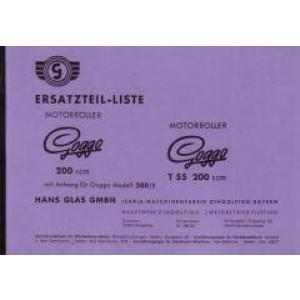 Glas Motorroller Goggo 200, 200/1, Ersatzteilkatalog