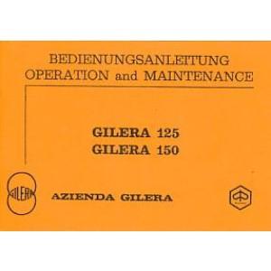 Gilera 125 / 150 ccm, Betriebsanleitung