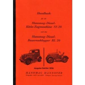 Hanomag Diesel-Klein-Zugmaschine SS 20/ Diesel-Bauernschlepper RL 20, Betriebsanleitung