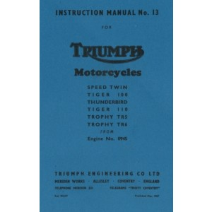Instruction Manual Triumph Motorcycles