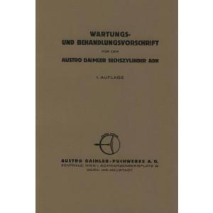Austro Daimler ADN 6-Zylinder, Wartungs- und Behandlungsvorschrift