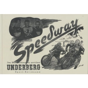 Speedway in Österreich, Festschrift ca. 1955 mit  vielen packenden Bildern