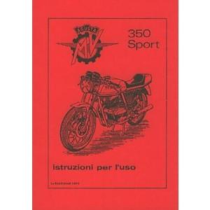 MV Agusta 350 Sport, Betriebsanleitung